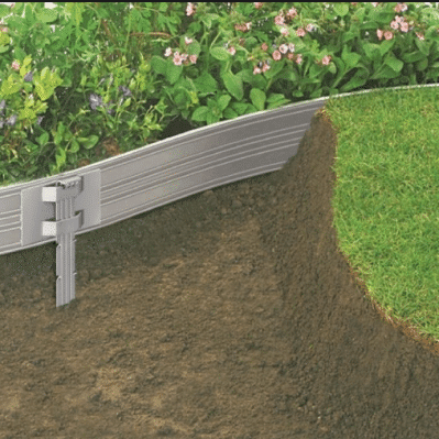 Aluminum Edging with stakes Garden Lawn Landscape Supplies