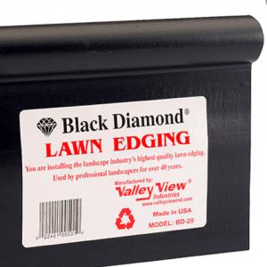 Black Diamond Edging Image Fletcher Rickard Landscape Supplies
